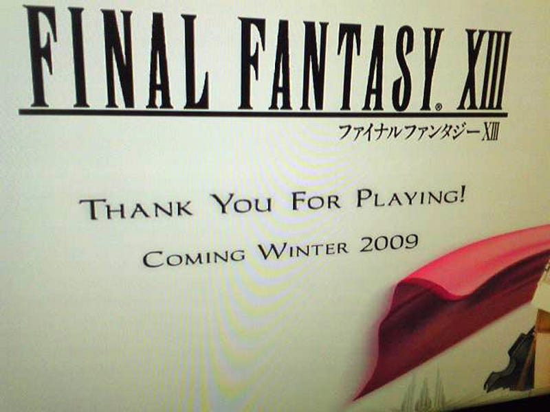 Final Fantasy XIII Still On Track For Winter 2009 Release...