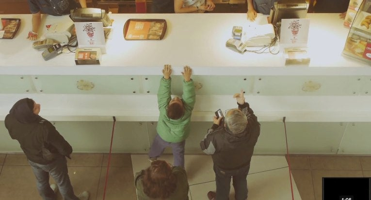 Giant McDonald's counter installed to make you feel like a kid again