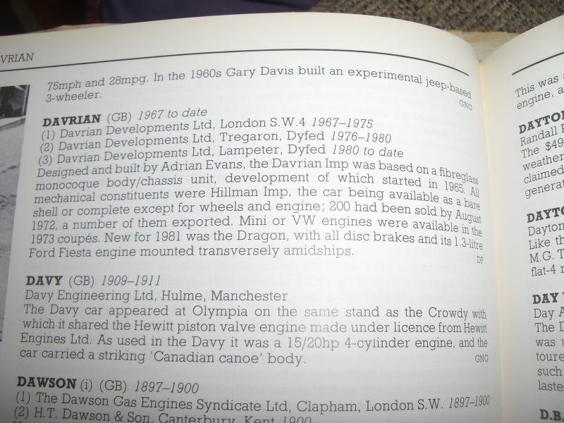 Random Auto Encyclopedia Entry - Davrian