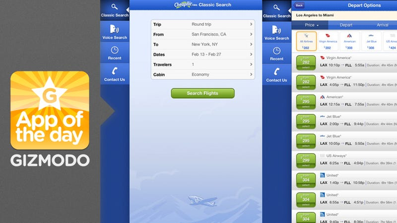 CheapAir: Search for Flights With Your Voice
