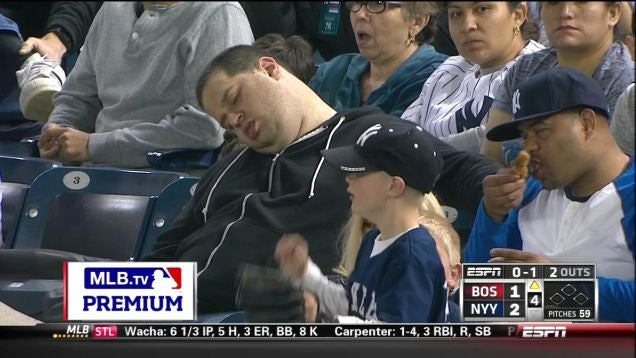Yankees Fan Caught Sleeping In Stands Sues Everyone For Defamation