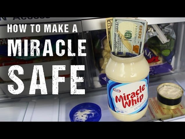 Turn a Jar of Mayo Into the Perfect Hiding Place for Your Valuables