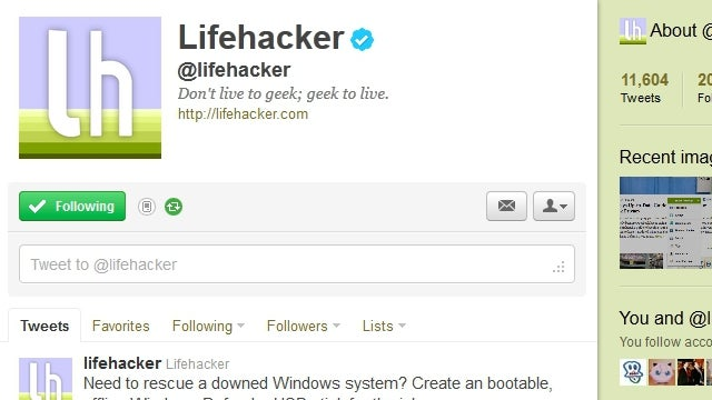Follow Lifehacker and Our Writers on Twitter for All of Our Top Stories, All of Our Shenanigans