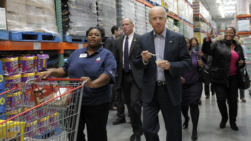 Seven Scenes from Joe Biden's Big Adventure 'Looking for Pies' at Costco
