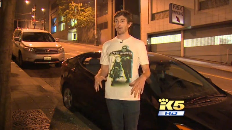 Seattle Welcomes IndyCar Driver By Stealing His Stuff