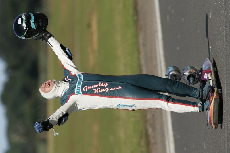 Joel King Breaks World Speed Record on Jet-Powered Luge