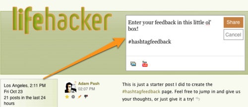 "Give Lifehacker's New Hashtag ""Forums"" Another Try"