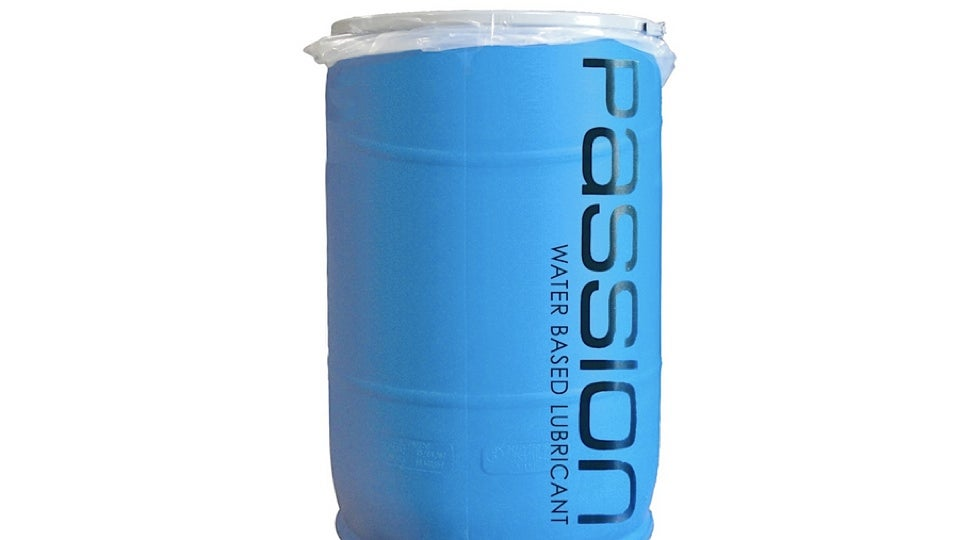 More than 55 gallon drum of anal lube