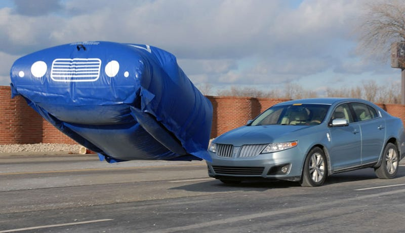 Ford Uses Balloon Cars for Crash Testing