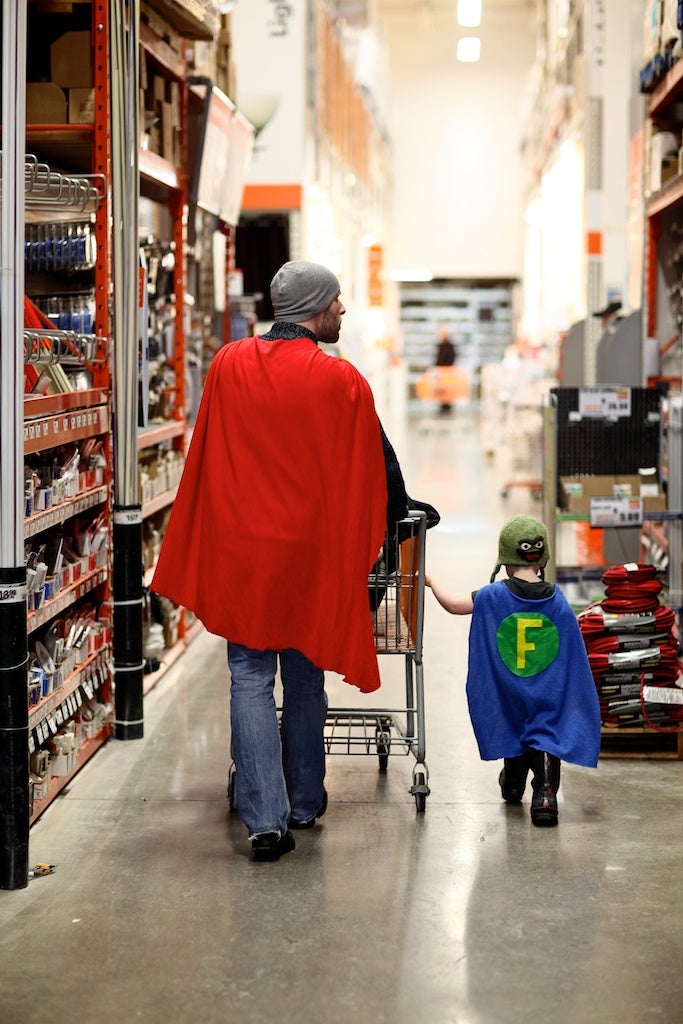 Sometimes all it takes is a cape to transform into someone's superhero