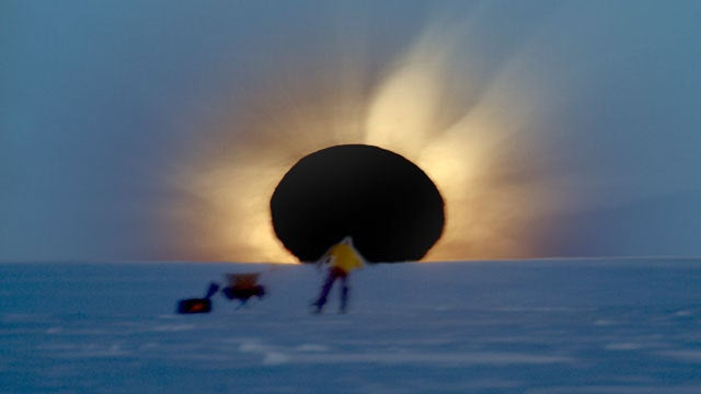 Black hole opening up over Antarctica is the most awesome eclipse photo ever