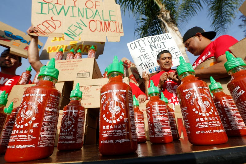 "Texas Sends ""Sriracha Delegation"" to Ca. to Woo Hot Sauce Company"