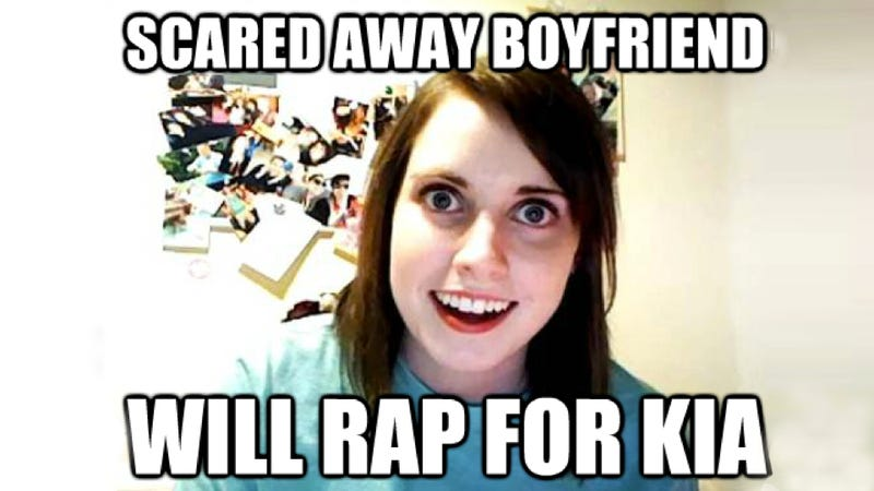 Watch Overly Attached Girlfriend Try To Rap Her Way Into A Kia Soul