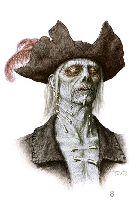 Amazing Zombie Concept Art for Pirates of the Caribbean 4