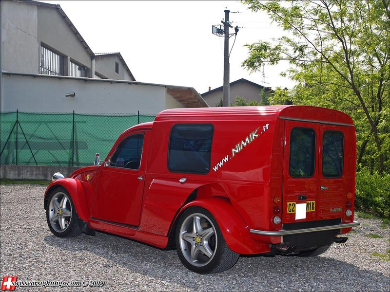 Baddest Citroen 2CV Ever Sports Ferrari F355 Guts