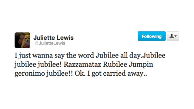 Juliette Lewis Is Totally Stoked for the Queen's Diamond Jubilee