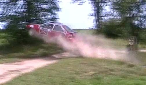Canadian Redneck Gets Massive Air In Ford Escort