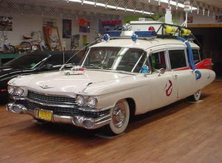 Ghostbuster 39 s ecto 1 for sale high miles some slime damage for Garage ms auto pont d ain