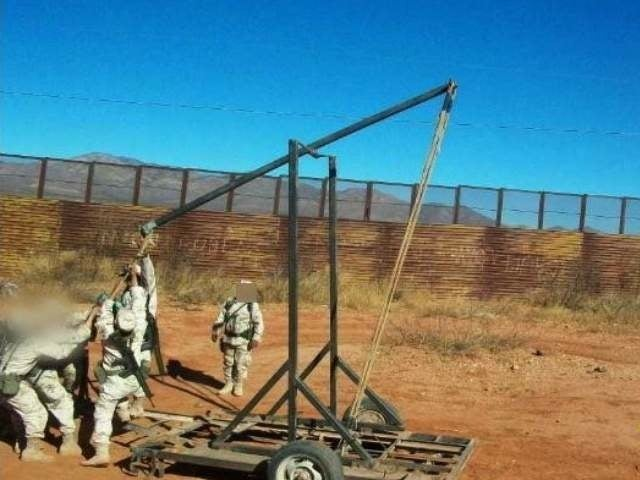 Weed-Firing Catapult Discovered at U.S.-Mexico Border