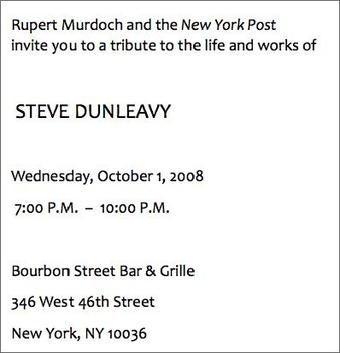 Goodbye, Steve Dunleavy