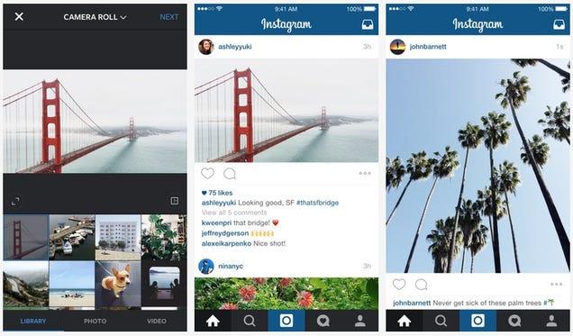 Instagram por fin se olvida de las fotos cuadradas y admite cualquier formato