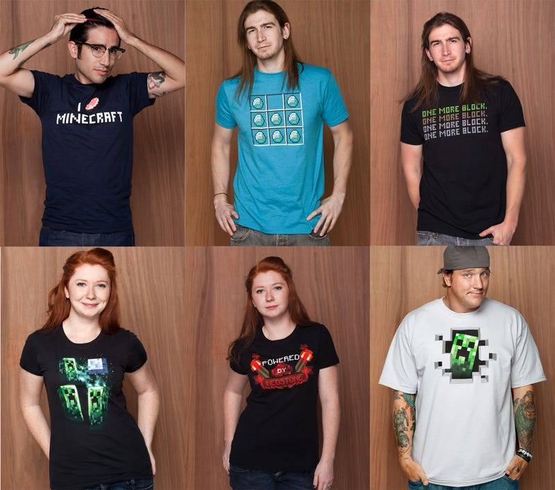 Jinx Launches The Official Minecraft Merch Store With Digable T-Shirts
