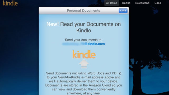 The Kindle App for iPhone and iPad Now Gets Emailed Documents (Including PDFs)