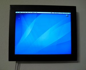 WallMac is a PowerBook Turned Wall-Mounted Computer