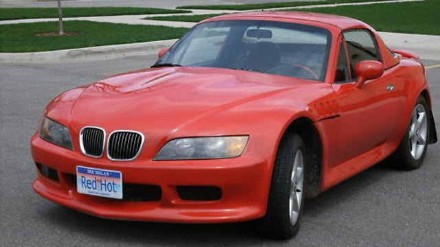 Mazda Miata with the face of a Z3 on Ebay