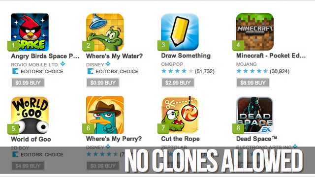 Google Outlaws App Clones on Google Play