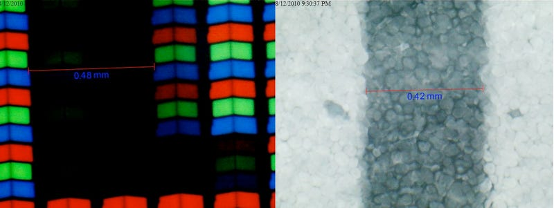 iPad and Kindle Screens Compared Under A Microscope