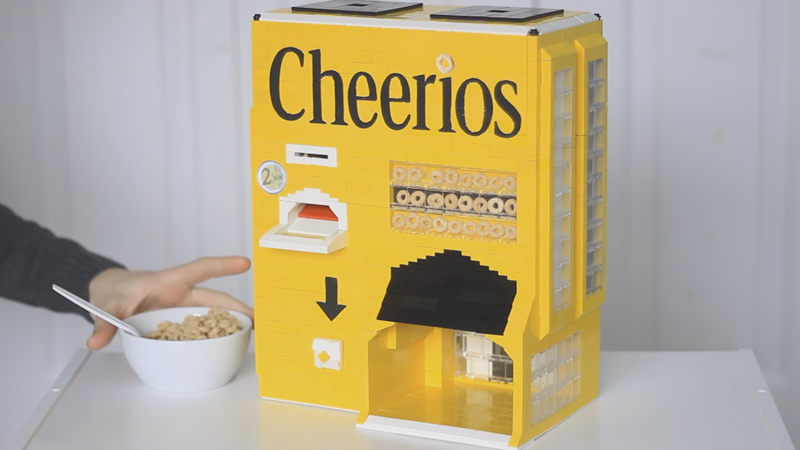 Who Wouldn't Want a Lego Cheerios Machine to Make Your Breakfast?