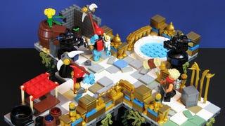 Lego <em>Bastion</em> Diorama