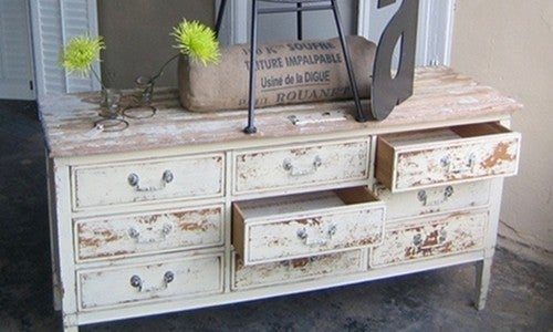 Use Milk Paint to Give Furniture a Worn and Vintage Look