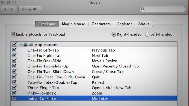 Jitouch Customizes Your Mac's Trackpad Gestures to Launch Apps, Perform Actions, and More