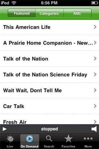 Public Radio iPhone App Adds On-Demand Content, Accidentally Kills FM Radio
