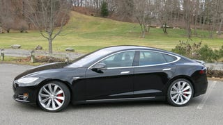 We drove the newTesla P85D and, holy hell, it's like a rocket!