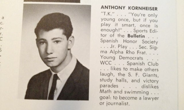 Do With Tony Kornheiser's High School Yearbook Picture What You Will