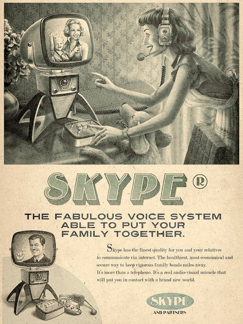 Skype—As Seen Through the Imagined 1960s Mad Men Advertising Looking-Glass