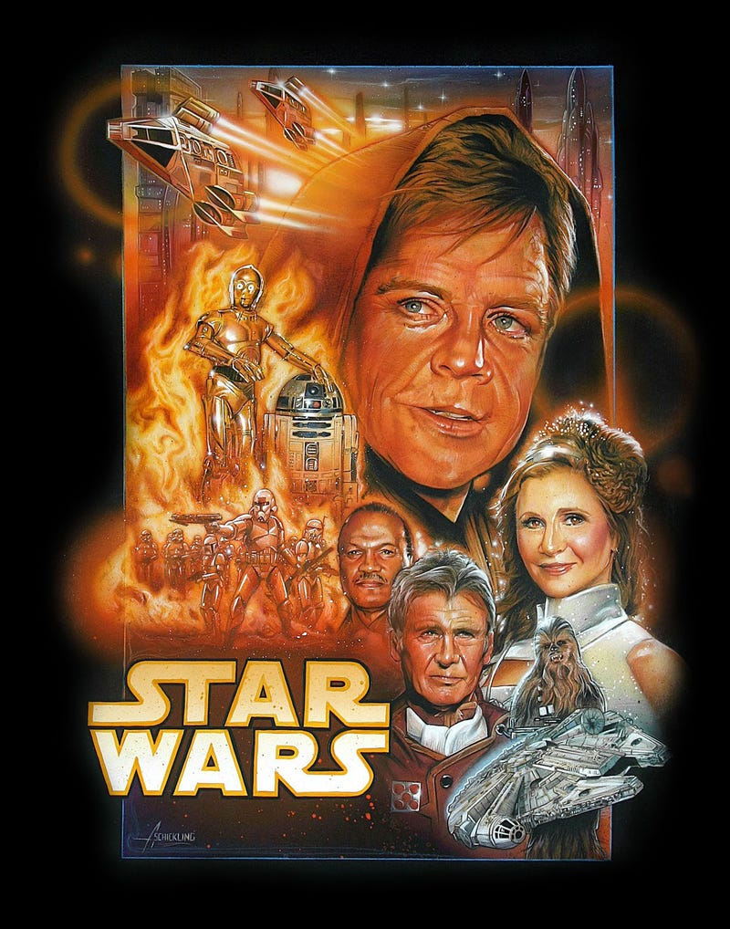 A Brilliant Poster For The New Star Wars Movie, Starring The Original Cast's Old Faces
