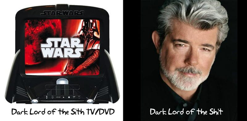 Darth Vader TV/DVD Has Lightsaber Remote
