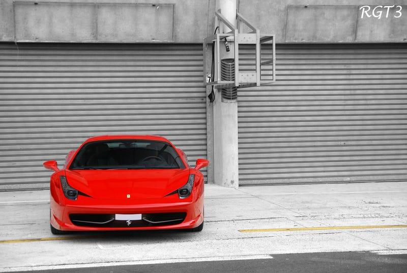 Ferrari 458 Italia Not On Fire