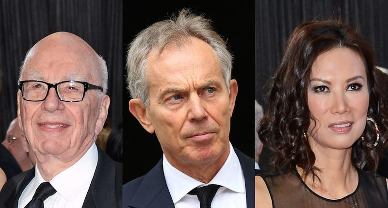 Rupert Murdoch Gave Tony Blair $100,000, Then Blair Fucked His Wife