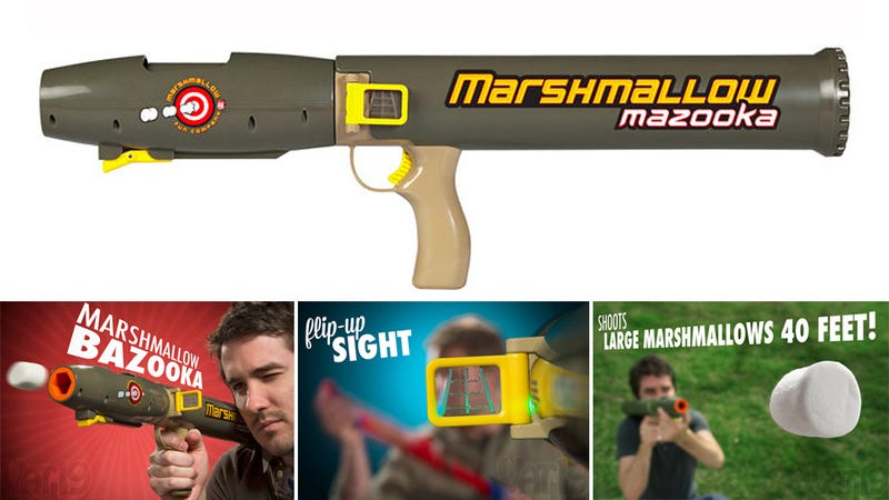 Enjoy Marshmallow Superiority With This Air-Compressed Bazooka