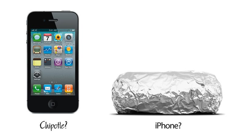 A Chipotle Burrito Is Not an iPhone