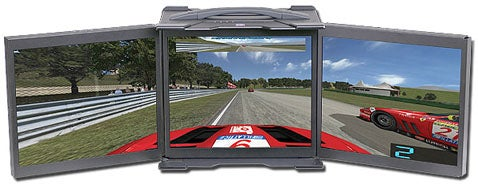 Acme Lunchbox Computer Features Triple 17-Inch LCD Screens