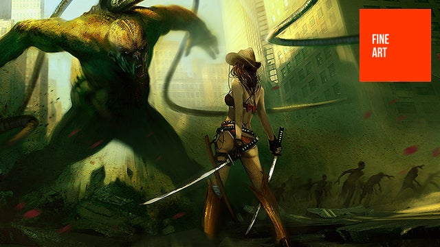 Bikini Cowgirls, Heavy Rain and British Zombies Lead This Concept Art Parade