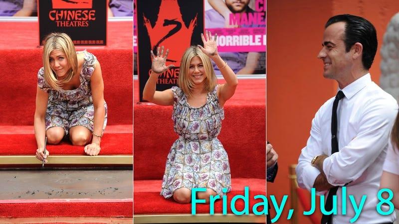 Jennifer Aniston Brings Hot Freshly Shaven Boyfriend To Handprint Ceremony