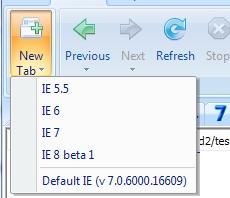 IETester Renders Sites like Internet Explorer 5.5 Through 8