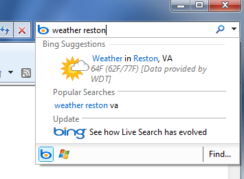 Search Bing From Your Browser's Quick Search Box